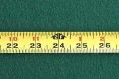 jaune de bande de mesure Photos stock
