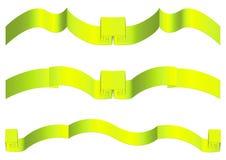 jaune de bandes de gradient Photos libres de droits