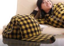 jaune de capuchon Photographie stock libre de droits