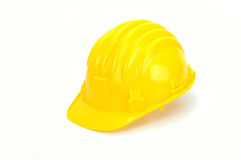 jaune de casque antichoc Photo stock