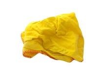 jaune de chiffon Photographie stock libre de droits