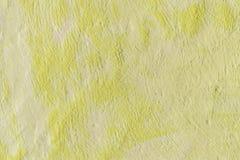 Jaune de couleur de fond Fond décoratif peint par résumé photo libre de droits