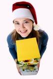 jaune de fille de capuchon de cadre photographie stock libre de droits