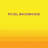 Jaune de fond de gradient de vecteur de style d'art de pixel Photos libres de droits
