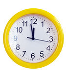 jaune de mur d'horloge Images stock