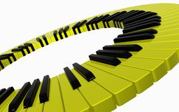 Jaune de piano Photographie stock