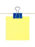 jaune de poteau de papier de note Photographie stock libre de droits