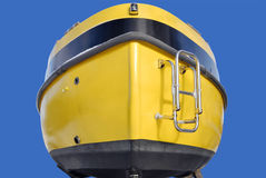 jaune de poupe de bateau photos libres de droits