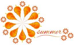 Jaune de signe d'été Image stock