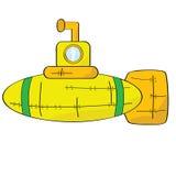 jaune de sous-marin Images stock