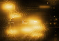 jaune de tecnology de fond illustration stock