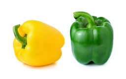 Jaune doux et poivron vert Photographie stock