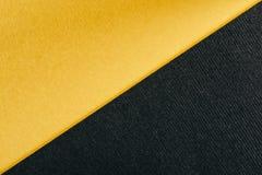 Jaune et charbon de bois Gray Abstract Geometric Background d'or photos libres de droits