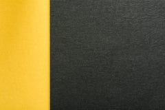 Jaune et charbon de bois Gray Abstract Geometric Background d'or images stock