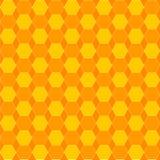 Jaune et orange de nid d'abeilles Photos stock