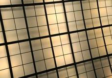 Jaune et plafond lumineux par Brown Photo stock