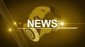 Jaune 4K générique de fond d'actualités de globe banque de vidéos