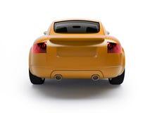 jaune moderne de vue de véhicule arrière Photos libres de droits