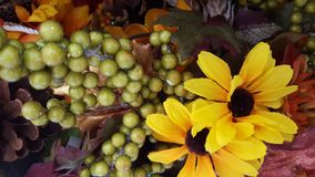 Jaune, orange, feuilles d'automne photographie stock