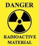Jaune radioactif de signe Images stock