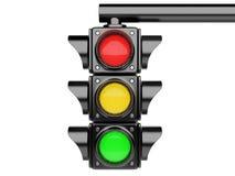 jaune rouge de circulation de feux verts illustration libre de droits