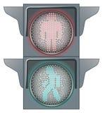 jaune rouge de circulation de feux verts Illustration de Vecteur