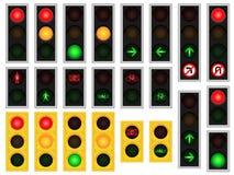 jaune rouge de circulation de feux verts Images stock