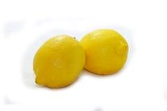 Jaune tropical de nature de fruit blanc de citron Photos libres de droits