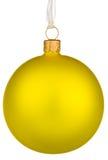 jaune vibrant de Noël de babiole Images libres de droits
