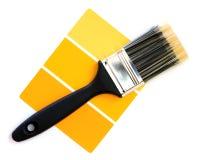 Jaunissez l'échantillon de couleur photographie stock libre de droits