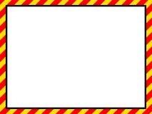 Jaunissez le cadre rouge Image stock