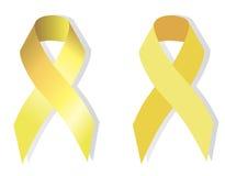 Jaunissez le ruban (d'or) symbolique Photo stock