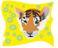 Jaunissez le tigre Photo libre de droits