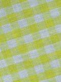 Jaunissez le tissu checkered Images libres de droits