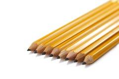 Jaunissez les crayons Photo libre de droits