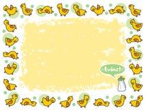 Jaunissez les JUMEAUX de trame de duckies illustration stock