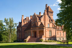 Jaunmokas Schloss, Tukums, Lettland lizenzfreies stockfoto