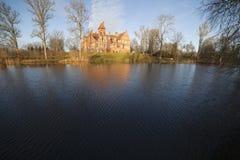 Jaunmoku castle in Latvia. Royalty Free Stock Photos