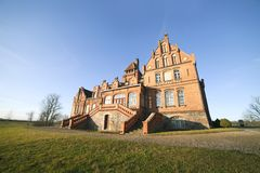 Jaunmoku castle in Latvia. Royalty Free Stock Image