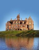 Jaunmoku Schloss in Lettland. stockbild
