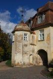Jaunpils castle, Latvia. Entrance to the Jaunpils castle, Latvia Royalty Free Stock Photography
