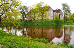Jaunpils castle in Latvia Royalty Free Stock Photo