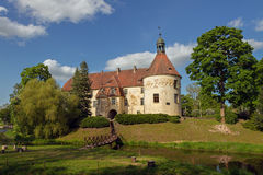 Jaunpils castle in Latvia. Royalty Free Stock Photography