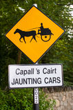 Jaunting cars sign Stock Photos
