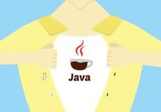 Java编程的英雄平的设计 编程概念性例证的先进的Java 免版税库存照片