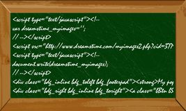 Java语言横幅 免版税库存图片