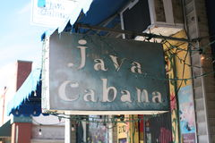 Java Cabana Coffee Shop royaltyfria bilder