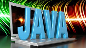 Java and Computer stock video footage