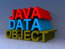Java Data Object sign. Stacked heading vector illustration