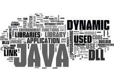 Java Dll Word Cloud Concept. Java Dll Text Background Word Cloud Concept vector illustration